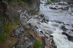 Troubled Waters. Small water stream in Rangeley Lake, Maine Stock Photography