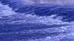 Troubled Waters, telephoto lens. Blue Troubled Waters, telephoto lens stock footage