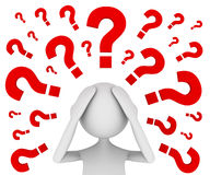 Troubled With Questions Stock Image