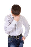 Troubled Young Man Stock Images
