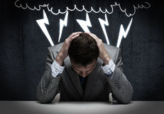 Troubles in business Stock Photography