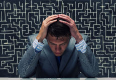 Troubles in business Stock Photo