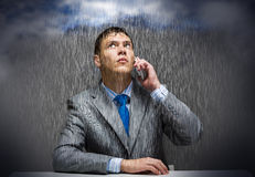 Troubles in business Stock Image