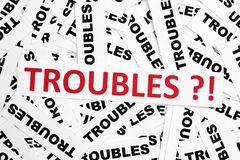 Troubles?! Royalty Free Stock Images