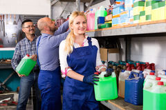 Troubleshooters and superviser at storage Stock Photography
