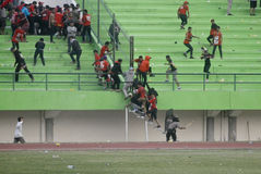 TROUBLESOME INDONESIAN SOCCER WORLD Stock Image