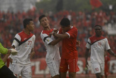 TROUBLESOME INDONESIAN SOCCER WORLD Stock Photos