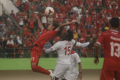 TROUBLESOME INDONESIAN SOCCER WORLD Stock Photo