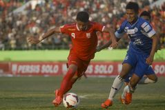 TROUBLESOME INDONESIAN SOCCER WORLD Stock Images