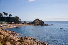Troublez la plage de Menuda dans Tossa De mars Costa Brava, Catalogne, Espagne Image stock