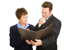 Troubling Business Report Stock Images