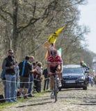 Sean De Bie in The Forest of Arenberg- Paris Roubaix 2015 Stock Photo