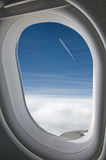 trough a big jet plane window Stock Image