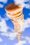 Trough the roof burgers Royalty Free Stock Image