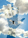 Trought Keyhole цифровой мир Стоковая Фотография