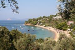 Troulos海湾 免版税图库摄影