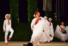 Troupe blanche spectaculaire de danse Images libres de droits