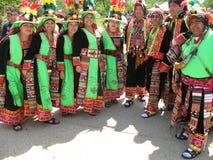 Troupe boliviane di ballo Fotografia Stock