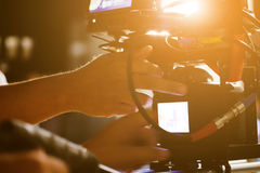 Troupe cinematografica fotografia stock libera da diritti