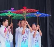 Troupe de danse de Chinois Photo libre de droits