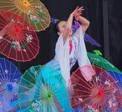 Troupe de danse de Chinois Photo stock
