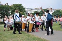Troupe de tambour de samba de nation de Dende Photographie stock libre de droits