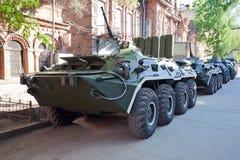 Troupe-transporteur blindé à roues Images libres de droits