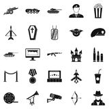 Trouper icons set, simple style. Trouper icons set. Simple set of 25 trouper vector icons for web isolated on white background Royalty Free Stock Photography