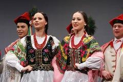 Troupes nationales de danse de la Pologne - le Mazowsze Photos stock