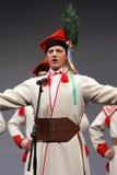 Troupes nationales de danse de la Pologne - le Mazowsze Photographie stock libre de droits