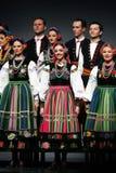 Troupes nationales de danse de la Pologne - le Mazowsze Image libre de droits
