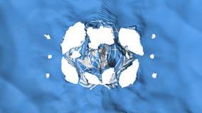 Trous dans le drapeau des Nations Unies illustration stock