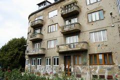Trous de balle sur le mur - Sarajevo - Bosnie-Herzégovine Photos libres de droits