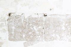 Trous de fissures sur le mur de plâtre image libre de droits