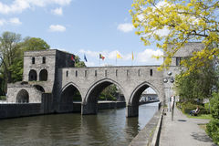 Trous Pont des - Tournai Royalty-vrije Stock Afbeeldingen