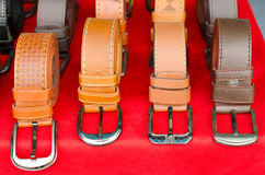 Trouser belts Stock Image