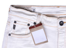 Trouser with price tag Stock Image