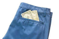 Trousers with american dollar on its pocket Stock Images