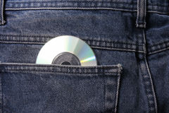 Trousers with cd Royalty Free Stock Photography