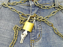 Trousers done up to the chain Royalty Free Stock Image