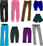 Trousers icons vector Royalty Free Stock Photos