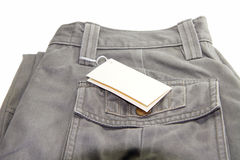 Trousers with label Stock Images
