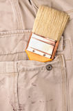 Trousers pocket with a tool Stock Image
