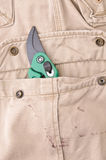 Trousers pocket with tool Royalty Free Stock Image