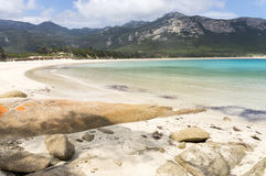 Trousers Point, Flinders Island, Tasmania, Australia. Scenic vista at Trousers Point near Strzelecki National Park along the west coast of Flinders Island stock image