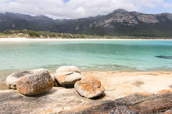 Trousers Point, Flinders Island, Tasmania, Australia. Scenic vista at Trousers Point near Strzelecki National Park along the west coast of Flinders Island royalty free stock photos