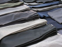 Trousers in a row Royalty Free Stock Photo