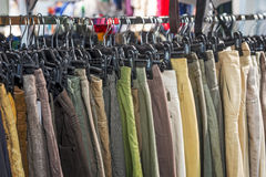 Trousers for sale Stock Image