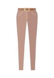 Trousers Unisex Pants Isolated on White Background Stock Photo