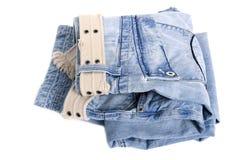 Trousers on white Stock Photo